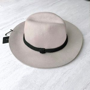 Grey Fedora Hat with Black Braided Band